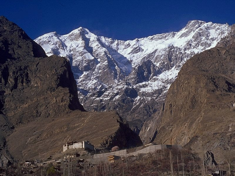 Ultar Peak near Baltit, Hunza.