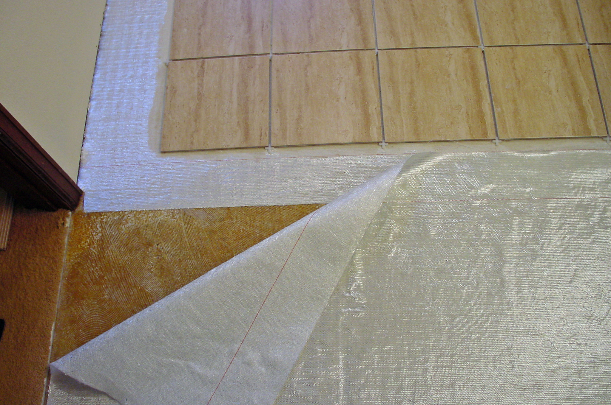 How to lay a floating porcelain or ceramic tile floor over a fiberglass mat dailygadgetfo Image collections